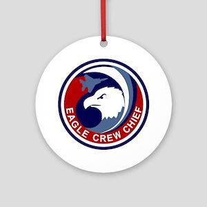 F-15 Eagle Crew Chief Round Ornament