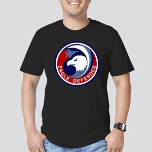 F-15 Eagle Defender Men's Fitted T-Shirt (dark)