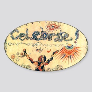 Celebrate! Sticker (Oval)