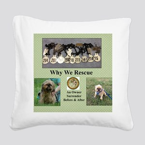 brussels griffon Square Canvas Pillow