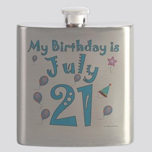 July 21st Birthday Flask