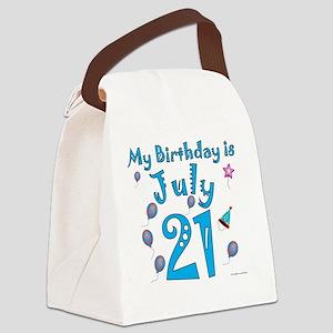 July 21st Birthday Canvas Lunch Bag