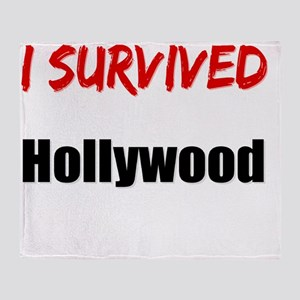 I survived HOLLYWOOD Throw Blanket