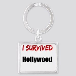 I survived HOLLYWOOD Landscape Keychain