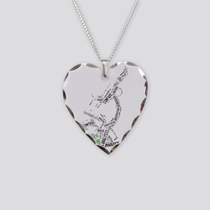 Scientific Method Microscope Necklace Heart Charm