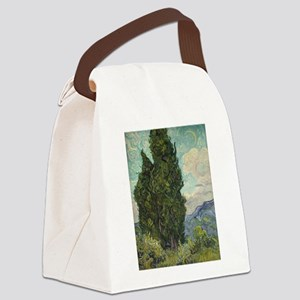 Cypresses - Van Gogh - c1889 Canvas Lunch Bag