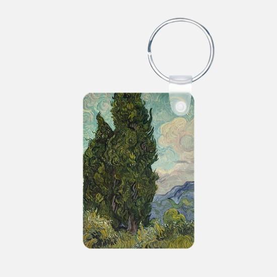 Cypresses - Van Gogh - c1889 Keychains