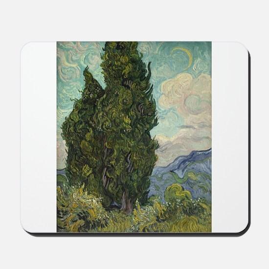 Cypresses - Van Gogh - c1889 Mousepad
