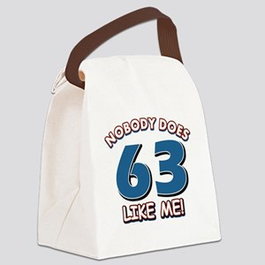 Funny 63 year old birthday Canvas Lunch Bag