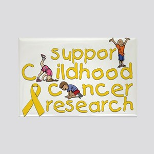 Support Childhood Cancer Research Rectangle Magnet