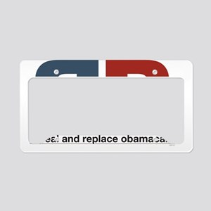 Repeal And Replace Obamacare License Plate Holder