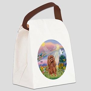 R-CloudAngel-RubyCavalier Canvas Lunch Bag