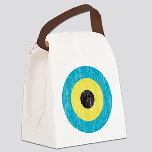 Bahamas Roundel Aged Canvas Lunch Bag