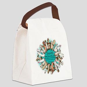 Deva-Arts logo Canvas Lunch Bag