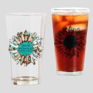 Deva-Arts logo Drinking Glass
