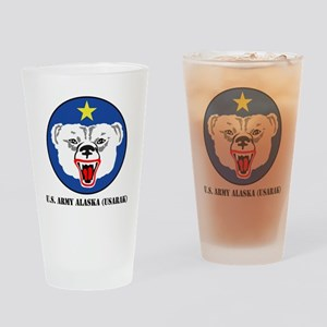 USARAK-text Drinking Glass