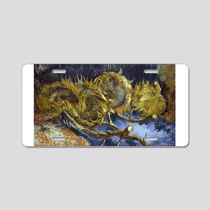 Four Cut Sunflowers - Van Gogh - c1887 Aluminum Li