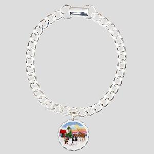 Tri Cavalier Charm Bracelet, One Charm