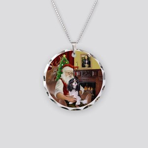 Santa-TriCavalier (B) Necklace Circle Charm