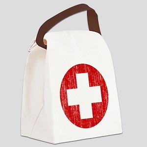 Switzerland Roundel Aged Canvas Lunch Bag