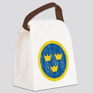 Sweden Roundel Aged Canvas Lunch Bag