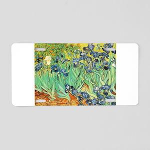 Irises - Van Gogh - c1889 Aluminum License Plate
