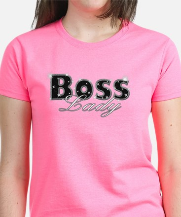 Boss Lady Bling Women's Dark T-Shirt