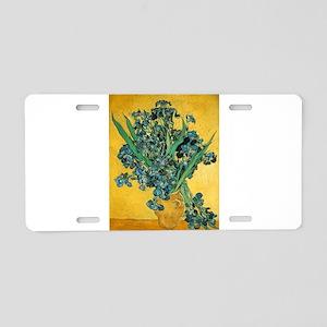 Irises - Van Gogh - c1890 Aluminum License Plate