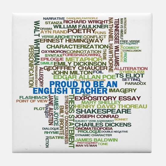 Proud English Teacher Tile Coaster