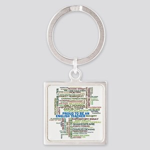 Proud English Teacher Square Keychain