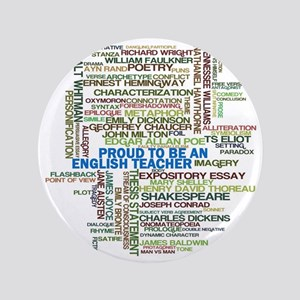 "Proud English Teacher 3.5"" Button"