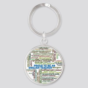 Proud English Teacher Round Keychain