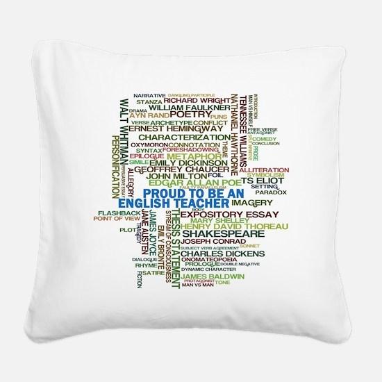 Proud English Teacher Square Canvas Pillow