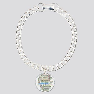 Proud English Teacher Charm Bracelet, One Charm