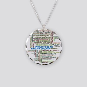 Proud English Teacher Necklace Circle Charm