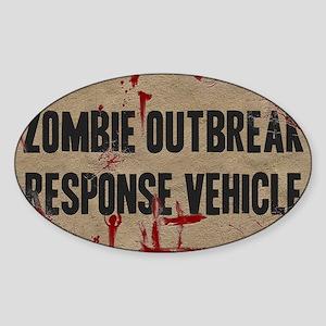 Zombie Outbreak Response Vehicle Sticker (Oval)