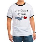 My Veteran My Hero Dog Tags Ringer T