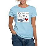 My Veteran My Hero Dog Tags Women's Light T-Shirt