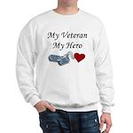 My Veteran My Hero Dog Tags Sweatshirt