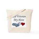 My Veteran My Hero Dog Tags Tote Bag