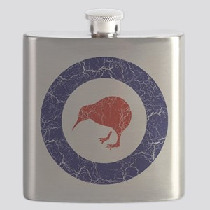 New Zealand Roundel Cracked Flask