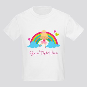 Personalized Ballerina Girl rainbow T-Shirt