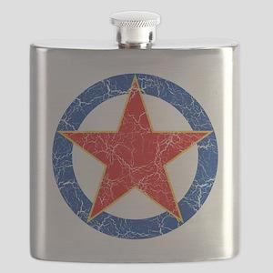 S F R Yugoslavia Roundel Cracked Flask