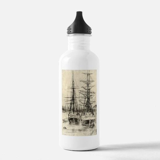 Two ships - Whistler - 1888 Water Bottle