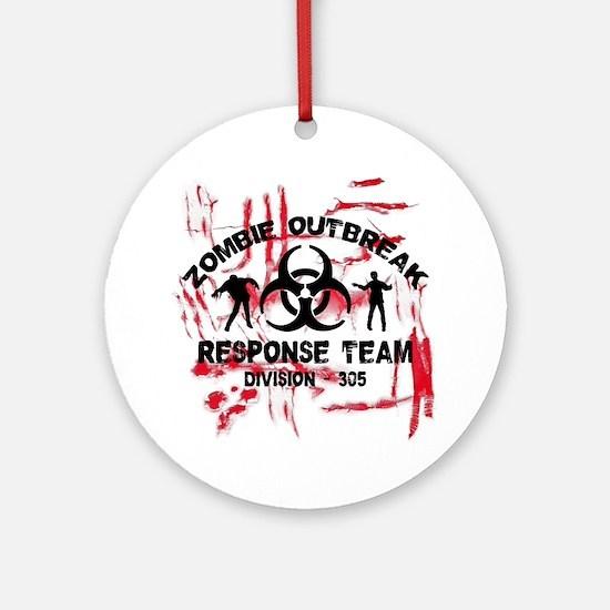 Zombie Response Team Round Ornament