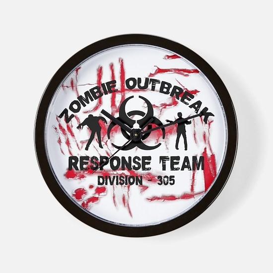 Zombie Response Team Wall Clock