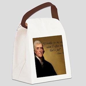Thomas Jefferson God Quote Canvas Lunch Bag