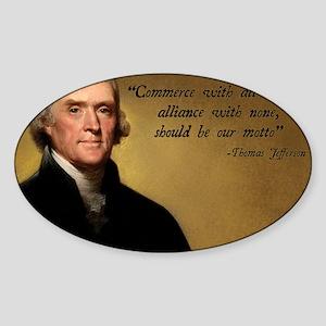 Jefferson Free Trade Quote Sticker (Oval)