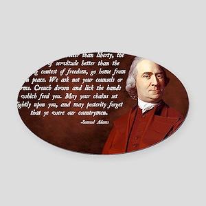 Samuel Adams Oval Car Magnet