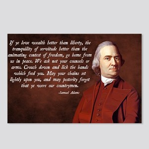 Samuel Adams Postcards (Package of 8)